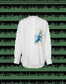 GALLANT: Collarless shirt with ArtistatHIGH print