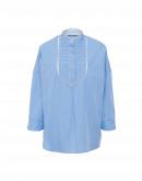 MEMORABLE: Bib front in sky blue cotton poplin