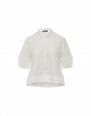 JONQUIL: Shirt jacket in white cotton ramie