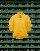 JONQUIL: Camicia in ramie di cotone giallo
