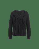 MONTAGE: Camicia in viscosa con nervature e nastro di pizzo