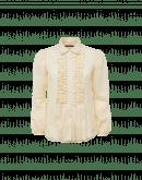 NOTIFY: Camicia avorio con volant davanti e maniche a campana