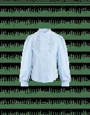 DREAMLIKE: Camicia in popeline chambray con ricamo frontale