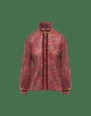 BLISSFUL: Camicia in garza di lana a stampa floreale