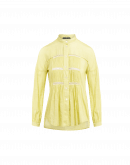 IDEALIST: Camicia con pannelli plissettati e nastro di pizzo