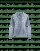 WHISPER: Camicia in velluto a coste e cupro