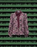 FLOURISH: Camicia in seta a stampa floreale con nastri