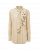 SPEAK OUT: Camicia a righe beige con cravatta