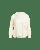 ARTIST: Camicia avorio in seta con nappina da annodare al collo