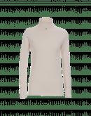 OVERCOME: Maglioncino a collo alto in cashmere crema