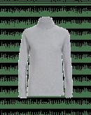 OVERCOME: Maglioncino a collo alto in cashmere grigio chiaro