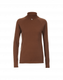 OVERCOME: Luxe dark camel cashmere turtleneck