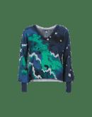 DAZZLE: Maglia a V con stampa multicolore