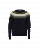 ENGAGE: Geometric pattern yoke sweater