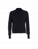 VAIN: Soft funnel neck sweater with raised cable stitch