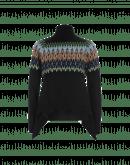 MAZE: Maglia nera a collo alto con motivo a rilievo multicolore