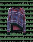 U-TURN: Maglione misto mohair scozzese semi spazzolato