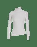 TILT: Maglioncino bianco a collo alto in costina