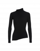 TILT: Black ribbed skinny-fit turtle neck