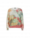 VISIONARY: Soft abstract watercolour printed sweater