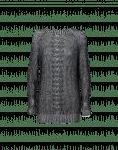 PASSIONATE: Schwarzer und elfenbeinfarbiger Pullover aus feiner Mohairwolle