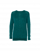 PASSIONATE: Green and teal fine wool mohair sweater