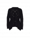 """TALENTED: Black sweater with pointed """"leaves"""" pattern"""