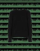PLAYER: Schwarzer Pullover mit rundem Halsausschnitt