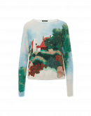 "INVENT: Painted landscape"" print sweater"