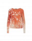 INVENT: Cream and peach floral print sweater