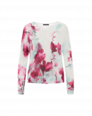ENCHANTING: Mint green and pink water colour floral sweater