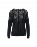 AFTER-ALL: Black long sleeve sweater with open stitch