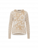 """GRATEFUL: Floral and geometric pattern sweater"""""""