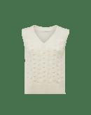 BY CHANCE: Gilet in maglia di lana color crema