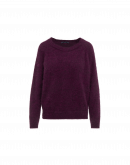 MURMUR: Maglioncino in misto angora color viola melanzana