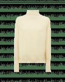 PEACE: Maglione a collo alto in lana e angora