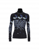 MAGIC: Optic print fine wool turtleneck