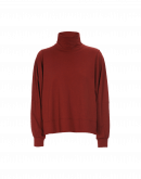 RESHUFFLE: Soft turtleneck top in autumn red