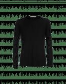 WORTHWHILE: T-shirt a maniche lunghe nera