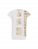 ROMANCE: T-shirt in popelin, jersey e voile stampato
