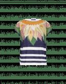 ADMIRATION: Bedrucktes T-Shirt mit Streifen
