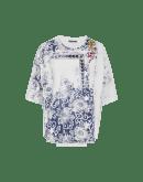 """ELABORATE: T-shirt con stampa """"timbro"""" e inserto frontale"""