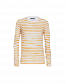 HEADLINE: Ochre stripe long sleeve top