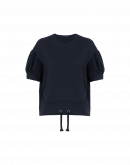 TACTIC: Blaues T-Shirt mit heruntergezogenen Ärmeln
