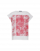 "CRAFTWORK: Square cut t-shirt with red ""stamp"" print"