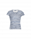 VERIFY: Navy stripe V-neck jersey t-shirt
