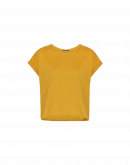 TIMELY: Sleeveless tee in soft saffron jersey