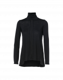 SERENADE: Black jersey and cupro roll-neck top