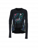 ILLUSTRATE: Long sleeve t-shirt in wool jersey with flocked artwork