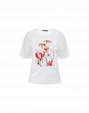 "ARTEFACT: Floral photo ""art"" print t-shirt"